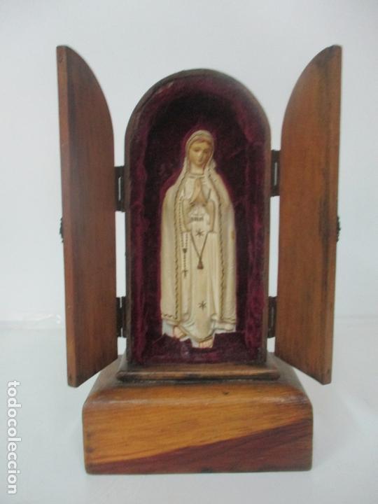 Arte: Preciosa Capilla Limosnera - Virgen de Fátima - Estuco Policromado - Talleres de Olot - Foto 15 - 171017627