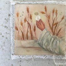 Arte: HIJUELA O PALIA ANTIGUA, DE SEDA PINTADA A MANO.. Lote 171025465