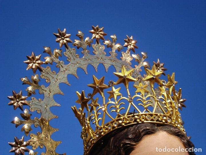 Arte: ESCUELA ESPAÑOLA INMACULADA PARA ALTAR O PROCESION GRANDES MEDIDAS SXIX - Foto 9 - 171041313