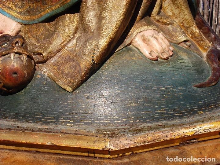 Arte: ESCUELA ESPAÑOLA INMACULADA PARA ALTAR O PROCESION GRANDES MEDIDAS SXIX - Foto 11 - 171041313