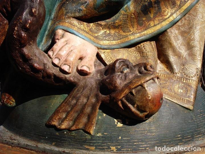 Arte: ESCUELA ESPAÑOLA INMACULADA PARA ALTAR O PROCESION GRANDES MEDIDAS SXIX - Foto 22 - 171041313