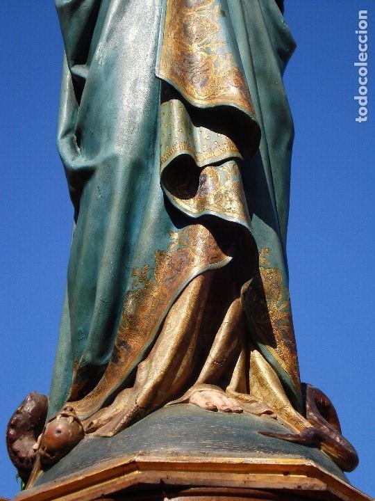 Arte: ESCUELA ESPAÑOLA INMACULADA PARA ALTAR O PROCESION GRANDES MEDIDAS SXIX - Foto 39 - 171041313