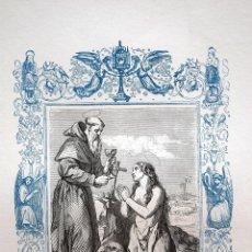 Arte: SANTA MARÍA EGIPCIACA PENITENTE - GRABADO DÉCADAS 1850-1860 - MUY BUEN ESTADO. Lote 171113684
