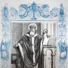 Arte: SAN ISIDORO, ARZOBISPO DE SEVILLA - GRABADO DÉCADAS 1850-1860 - MUY BUEN ESTADO. Lote 171113874