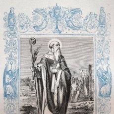 Arte: SAN EPIFANIO OBISPO Y CONFESOR - GRABADO DÉCADAS 1850-1860 - MUY BUEN ESTADO. Lote 171114004