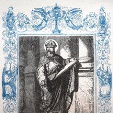 Arte: SAN DIONISIO, OBISPO Y CONFESOR - GRABADO DÉCADAS 1850-1860 - MUY BUEN ESTADO. Lote 171114045