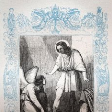 Arte: SAN QUINTIN, MARTIR - GRABADO DÉCADAS 1850-1860 - MUY BUEN ESTADO. Lote 171114325