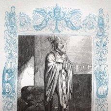 Arte: SAN NARCISO, OBISPO Y MARTIR - GRABADO DÉCADAS 1850-1860 - MUY BUEN ESTADO. Lote 171114435