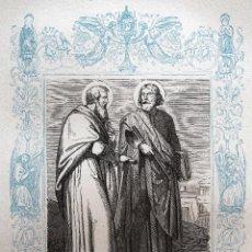 Arte: SAN SIMÓN Y SAN JUDAS TADEO - GRABADO DÉCADAS 1850-1860 - MUY BUEN ESTADO. Lote 171114563