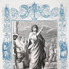 Arte: SAN VICTOR, MARTIR - GRABADO DÉCADAS 1850-1860 - MUY BUEN ESTADO. Lote 171114749