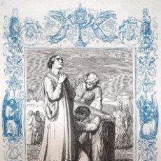 Arte: SANTAS BASILISISA Y ANASTASIA, MÁRTIRES - GRABADO DÉCADAS 1850-1860 - MUY BUEN ESTADO. Lote 171114840