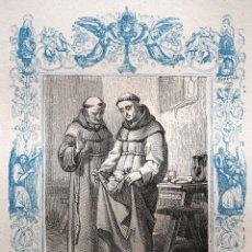 Arte: SAN PEDRO REGALADO - GRABADO DÉCADAS 1850-1860 - MUY BUEN ESTADO. Lote 171114918