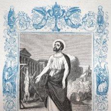 Arte: SAN BONIFACIO, MARTIR - GRABADO DÉCADAS 1850-1860 - MUY BUEN ESTADO. Lote 171114950