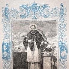 Arte: SAN JUAN NEPOMUCENO, MARTIR - GRABADO DÉCADAS 1850-1860 - MUY BUEN ESTADO. Lote 171115032
