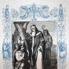 Arte: SAN FELIX, OBISPO - GRABADO DÉCADAS 1850-1860 - MUY BUEN ESTADO. Lote 171115180