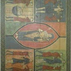 Arte: REPRODUCCIÓN FRONTAL DE ALTAR ROMÁNICO.. Lote 171116845