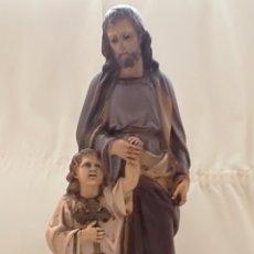 Arte: SAN JOSE Y NIÑO JESUS OLOT.. Lote 171126184