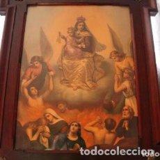 Arte: CUADRO DE NUESTRA SEÑORA DEL CARMEN . Lote 171134924