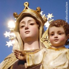 Arte: ANTIGUA VIRGEN DEL CARMEN EL ARTE CRISTIANO PASTA MADERA. Lote 171159508