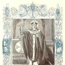 Arte: SAN NICETO, OBISPO Y CONFESOR - GRABADO DÉCADAS 1850-1860 - BUEN ESTADO. Lote 171260010