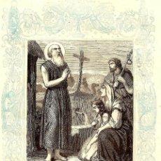 Arte: SAN HILARIÓN, ABAD - GRABADO DÉCADAS 1850-1860. Lote 171260078