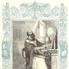 Arte: SAN LEÓN II PAPA Y CONFESOR - GRABADO DÉCADAS 1850-1860 - BUEN ESTADO. Lote 171260327
