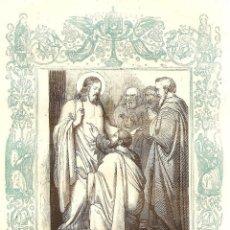 Arte: METE ESE DEDO EN MI LLAGA - GRABADO DÉCADAS 1850-1860 - BUEN ESTADO. Lote 171260633