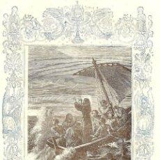 Arte: JESÚS CALMA LA TEMPESTAD - GRABADO DÉCADAS 1850-1860 - BUEN ESTADO. Lote 171260788