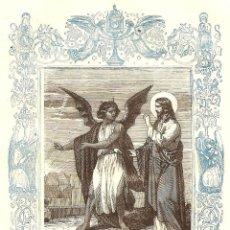 Arte: EL DEMONIO TIENTA A JESÚS EN EL DESIERTO - GRABADO DÉCADAS 1850-1860 - BUEN ESTADO. Lote 171260853
