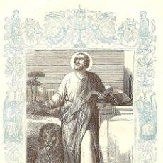 Arte: SAN LUCAS, CONFESOR - GRABADO DÉCADAS 1850-1860 - BUEN ESTADO. Lote 171261357