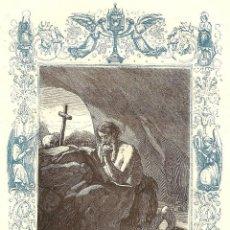 Arte: SAN ROMANO, FUNDADOR - GRABADO DÉCADAS 1850-1860 - BUEN ESTADO. Lote 171261740