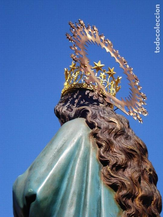 Arte: INMACULADA CONCEPCIÓN ESCUELA ESPAÑOLA SXIX TALLA DE MADERA GRANDES MEDIDAS - Foto 37 - 167145492