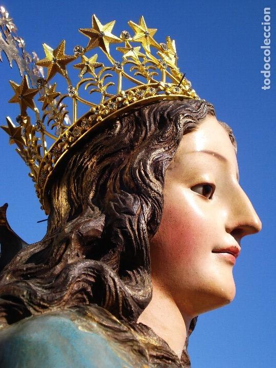 Arte: INMACULADA CONCEPCIÓN ESCUELA ESPAÑOLA SXIX TALLA DE MADERA GRANDES MEDIDAS - Foto 51 - 167145492