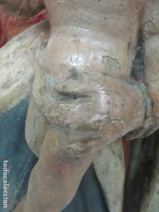 Arte: Antigua Virgen del Rosario - Talla de Madera Policromada - Escuela Catalana - S. XVII-XVIII - Foto 5 - 171296033