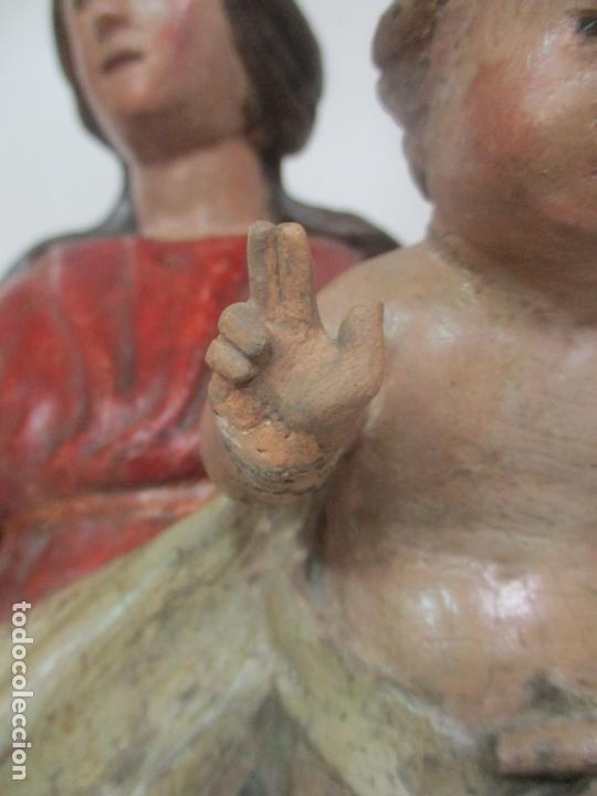 Arte: Antigua Virgen del Rosario - Talla de Madera Policromada - Escuela Catalana - S. XVII-XVIII - Foto 6 - 171296033