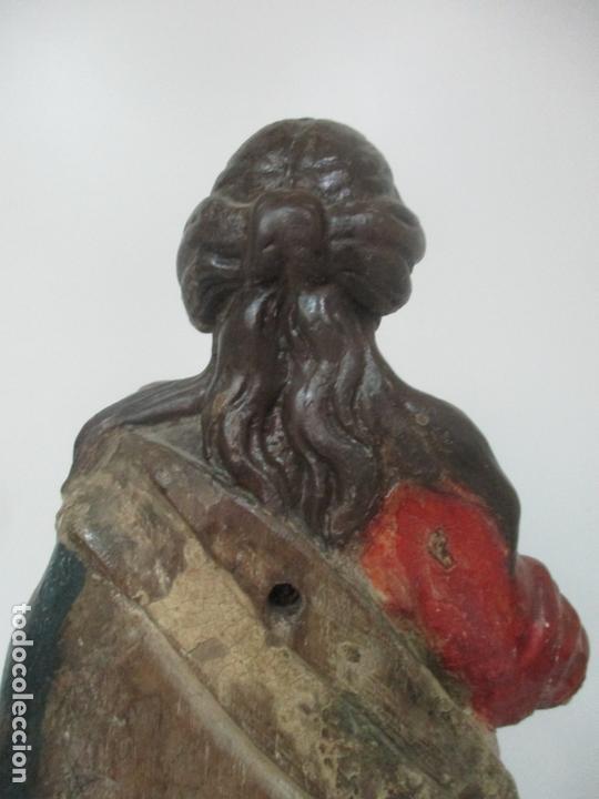 Arte: Antigua Virgen del Rosario - Talla de Madera Policromada - Escuela Catalana - S. XVII-XVIII - Foto 15 - 171296033