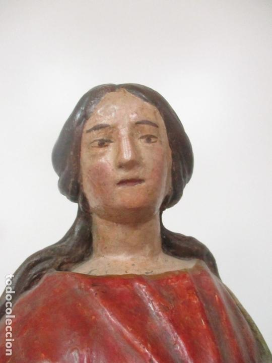 Arte: Antigua Virgen del Rosario - Talla de Madera Policromada - Escuela Catalana - S. XVII-XVIII - Foto 20 - 171296033