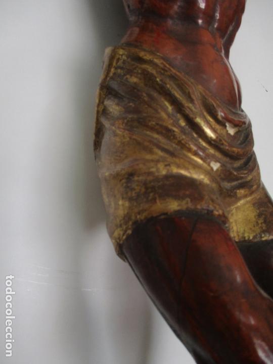 Arte: Impresionante Escultura, Jesucristo - Talla de Madera, Posible Gregorio Fernández - S. XVI-XVII - Foto 6 - 171334888