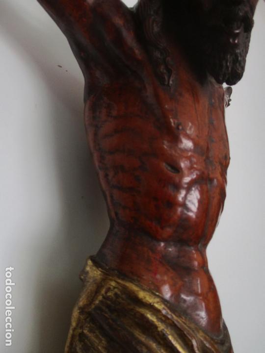 Arte: Impresionante Escultura, Jesucristo - Talla de Madera, Posible Gregorio Fernández - S. XVI-XVII - Foto 7 - 171334888