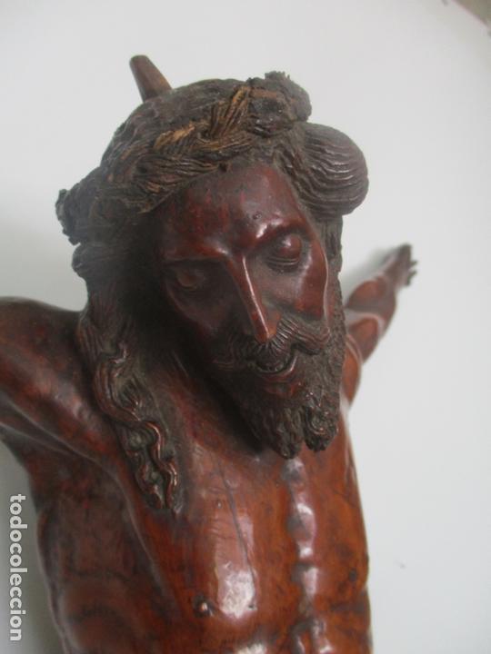 Arte: Impresionante Escultura, Jesucristo - Talla de Madera, Posible Gregorio Fernández - S. XVI-XVII - Foto 8 - 171334888