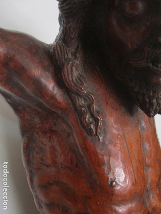 Arte: Impresionante Escultura, Jesucristo - Talla de Madera, Posible Gregorio Fernández - S. XVI-XVII - Foto 9 - 171334888