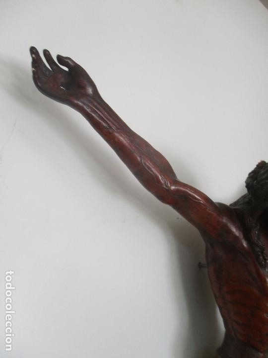 Arte: Impresionante Escultura, Jesucristo - Talla de Madera, Posible Gregorio Fernández - S. XVI-XVII - Foto 10 - 171334888
