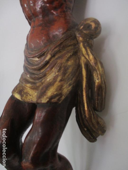 Arte: Impresionante Escultura, Jesucristo - Talla de Madera, Posible Gregorio Fernández - S. XVI-XVII - Foto 15 - 171334888