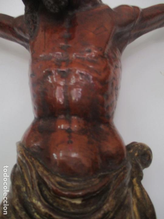 Arte: Impresionante Escultura, Jesucristo - Talla de Madera, Posible Gregorio Fernández - S. XVI-XVII - Foto 16 - 171334888