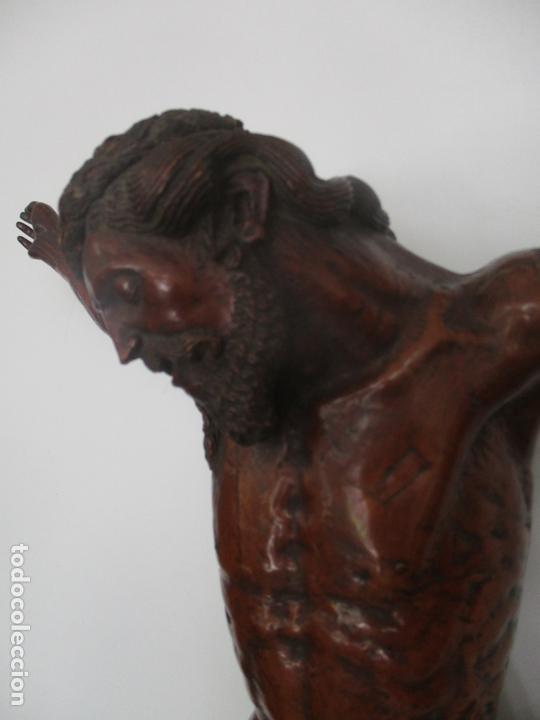 Arte: Impresionante Escultura, Jesucristo - Talla de Madera, Posible Gregorio Fernández - S. XVI-XVII - Foto 18 - 171334888