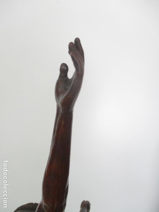Arte: Impresionante Escultura, Jesucristo - Talla de Madera, Posible Gregorio Fernández - S. XVI-XVII - Foto 23 - 171334888