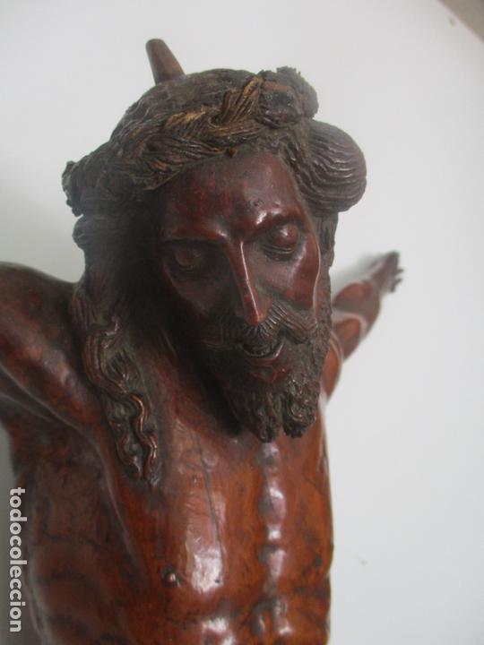 Arte: Impresionante Escultura, Jesucristo - Talla de Madera, Posible Gregorio Fernández - S. XVI-XVII - Foto 33 - 171334888
