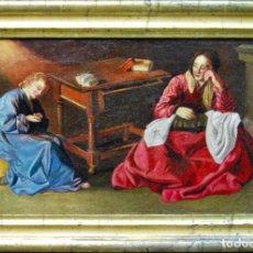 Arte: LA CASA DE NAZARET, ANTIGUA PINTURA. ÓLEO SOBRE LIENZO, FINALES S. XVII. TALLER FRANCISCO ZURBARÁN.. Lote 171335655