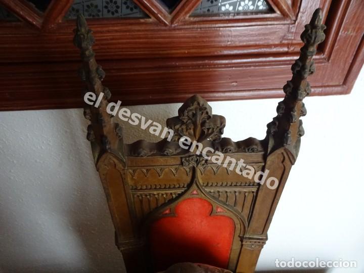 Arte: ENTRONIZACION SAGRADO CORAZON. Escultura estuco policromado. Ppios. S. XX. Escuela Olot?? - Foto 9 - 171338428