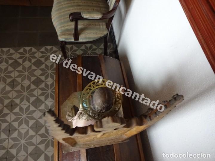 Arte: ENTRONIZACION SAGRADO CORAZON. Escultura estuco policromado. Ppios. S. XX. Escuela Olot?? - Foto 10 - 171338428